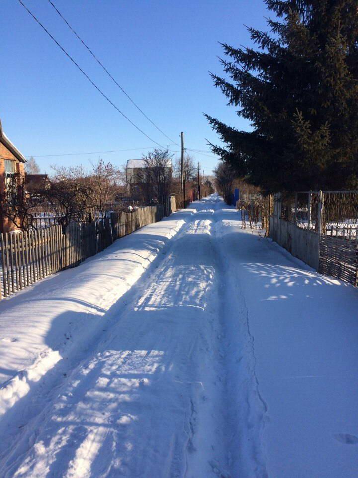дорога на дачу по снегу