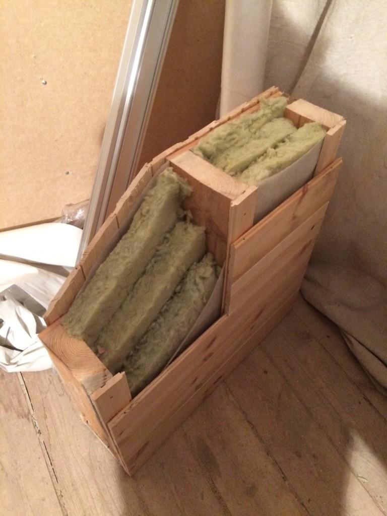 сборка куска бани