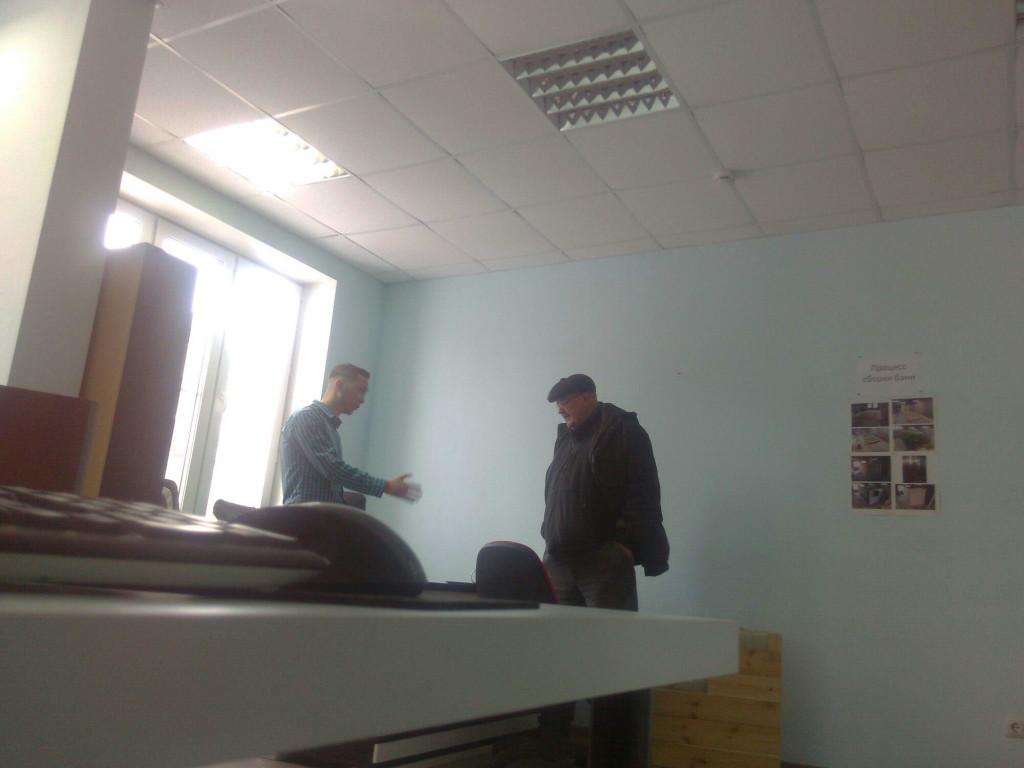 первый клиент в офисе