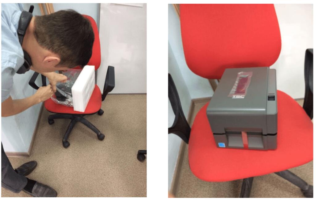 распаковываем принтер