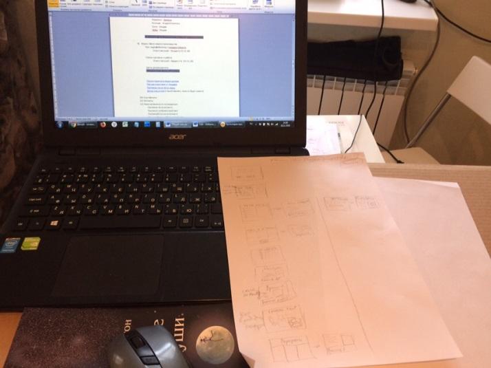 рисую экраны на бумаге