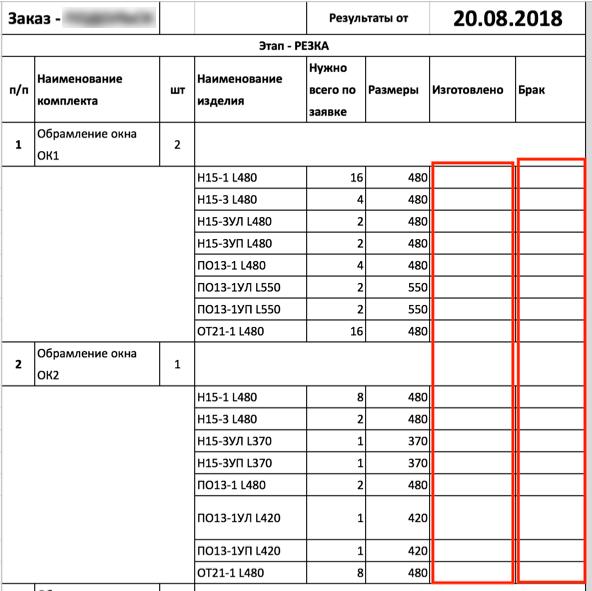 листки для заполнения данных
