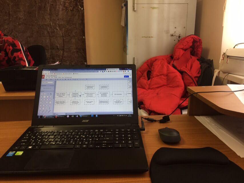 Живое фото рабочего процесса