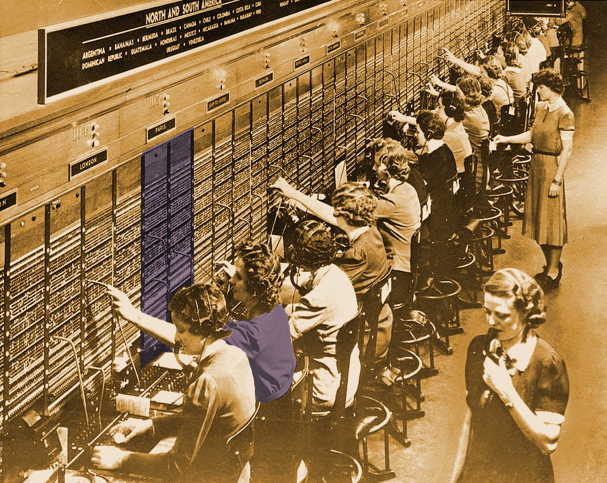 телефонисты в былые времена